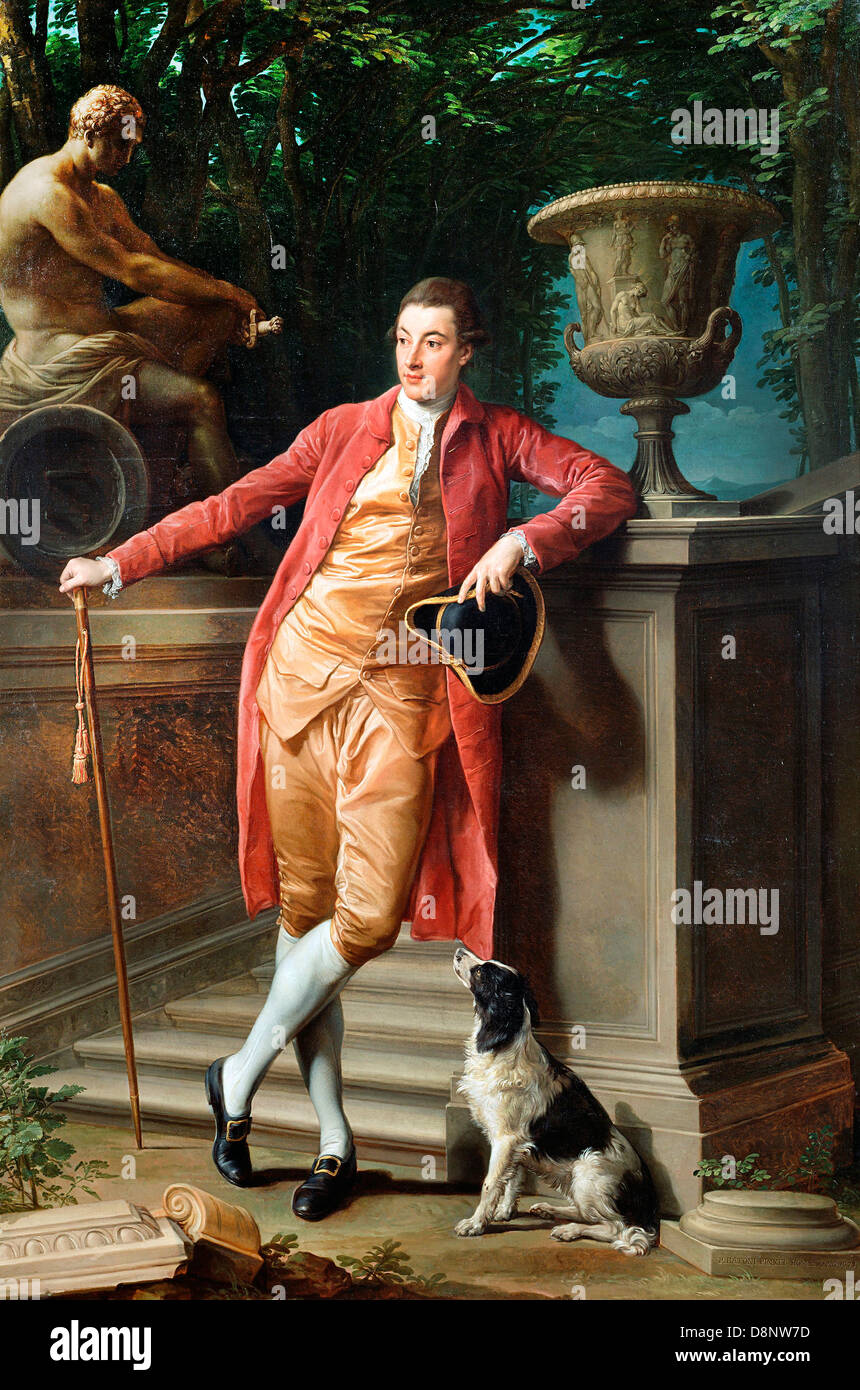 Pompeo Batoni, Portrait of John Talbot, later 1st Earl Talbot 1773 Oil on canvas. The J. Paul Getty Museum. Stock Photo