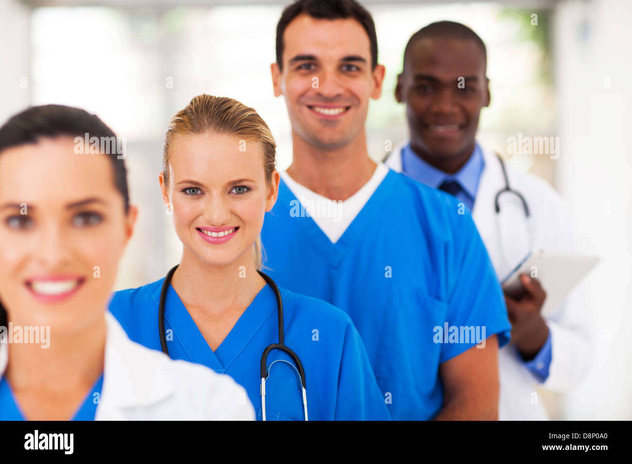 group of medical doctors and nurses portrait - Stock Image