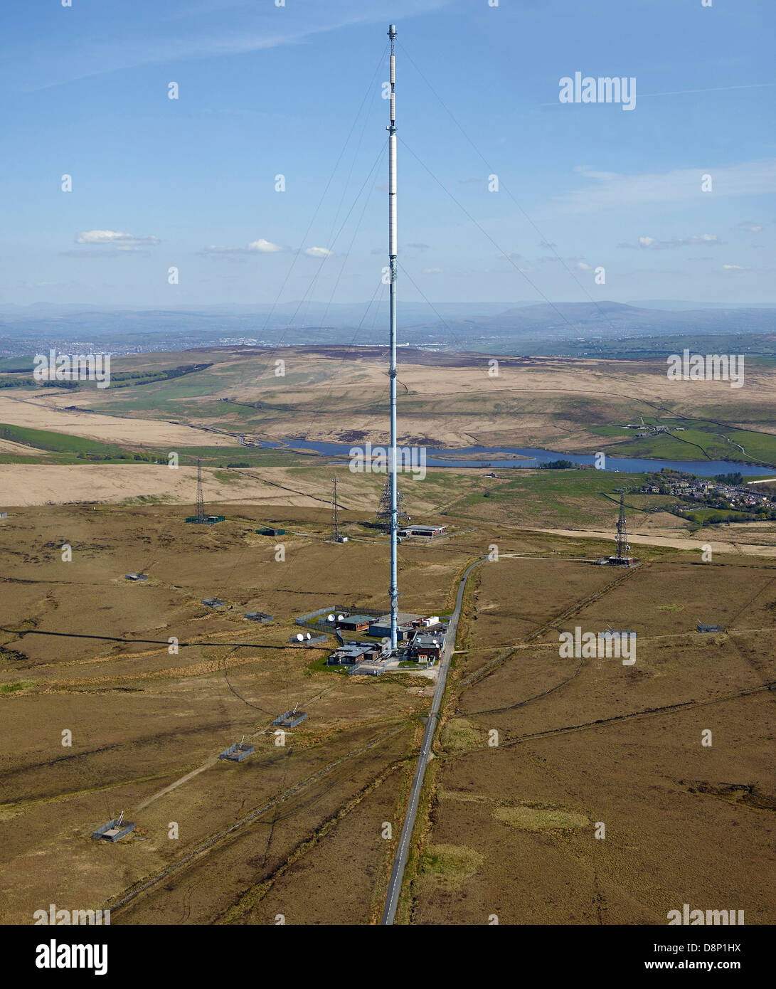 Winter Hill TV Transmitter, north of Bolton, North West England Stock Photo
