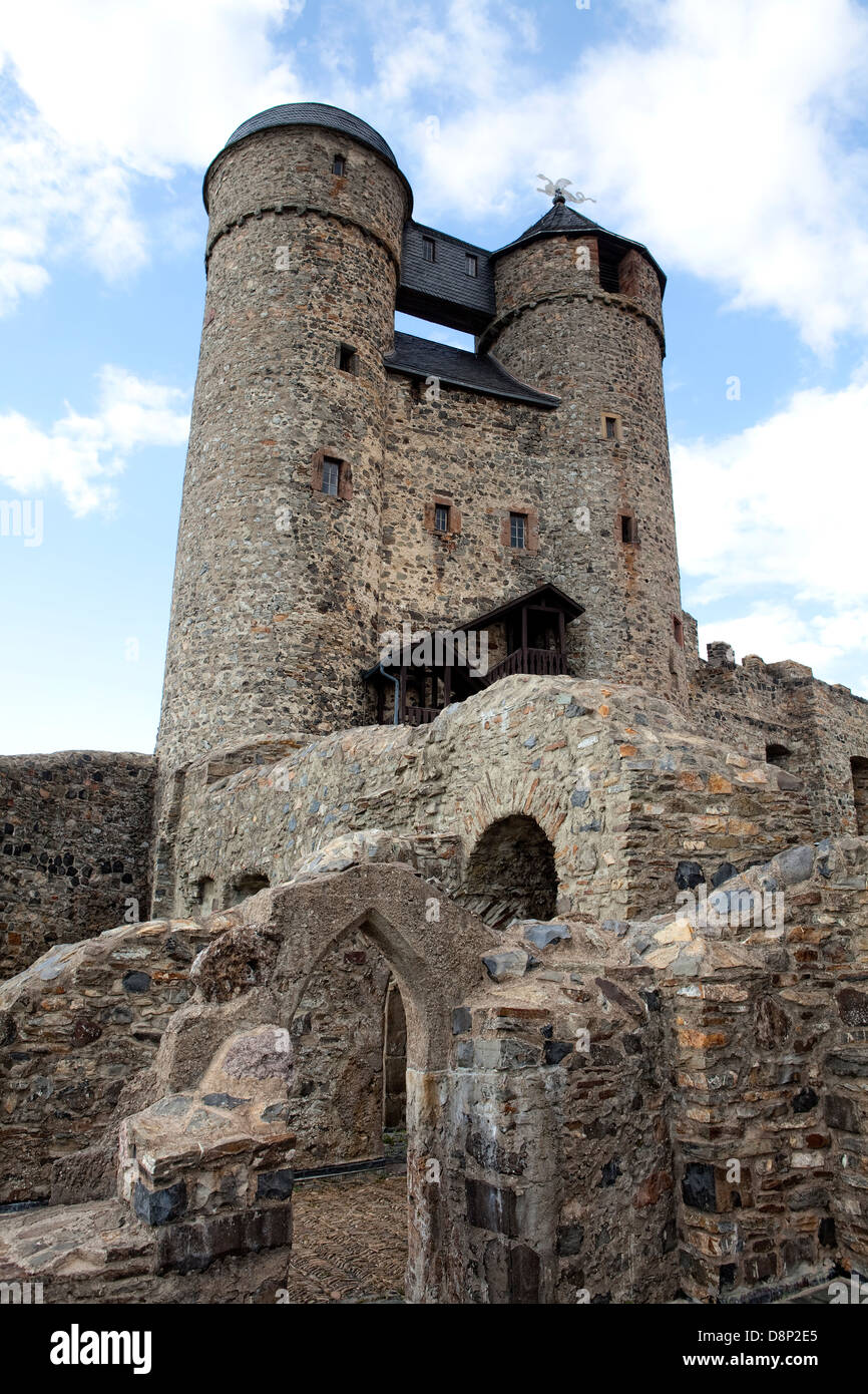 Greifenstein Castle, Hesse, Germany, Europe, - Stock Image