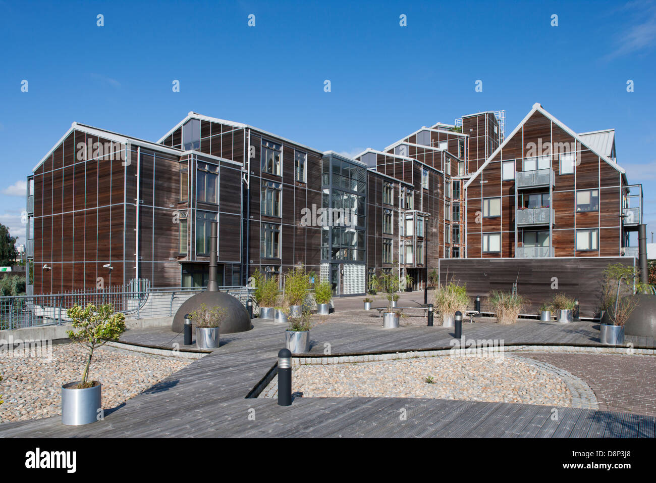 Island House Three Mills Lane Bromley By Bow - Stock Image