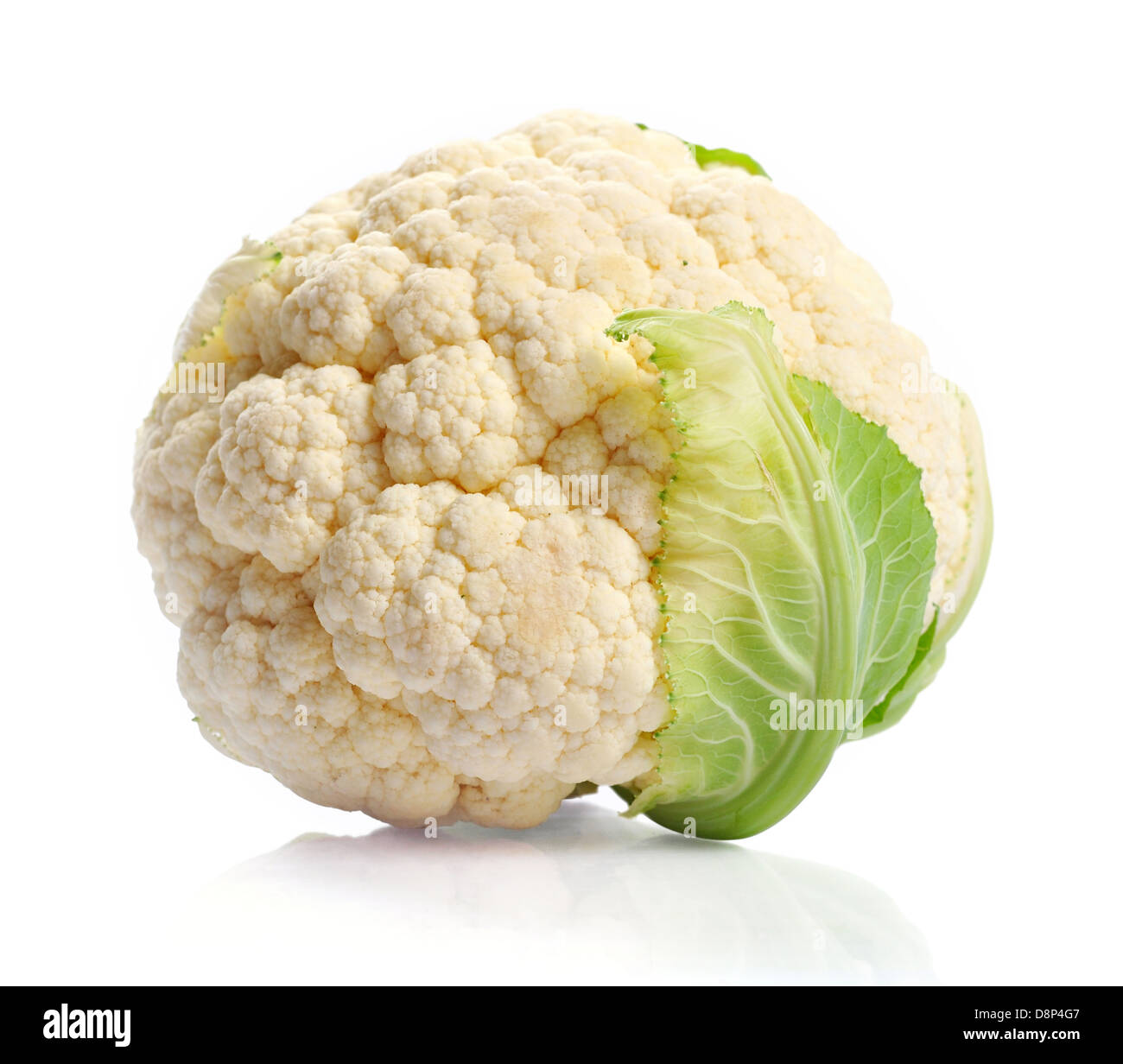Fresh cauliflower isolated on white background. Clipping path inkluded. - Stock Image