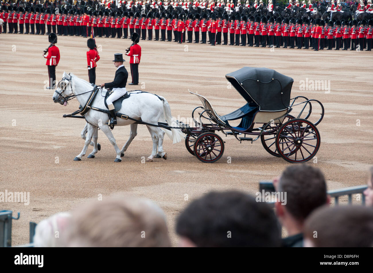 Rehearsal of the Queen's birthday parade, The Major General Review at the Horse Guards - Stock Image