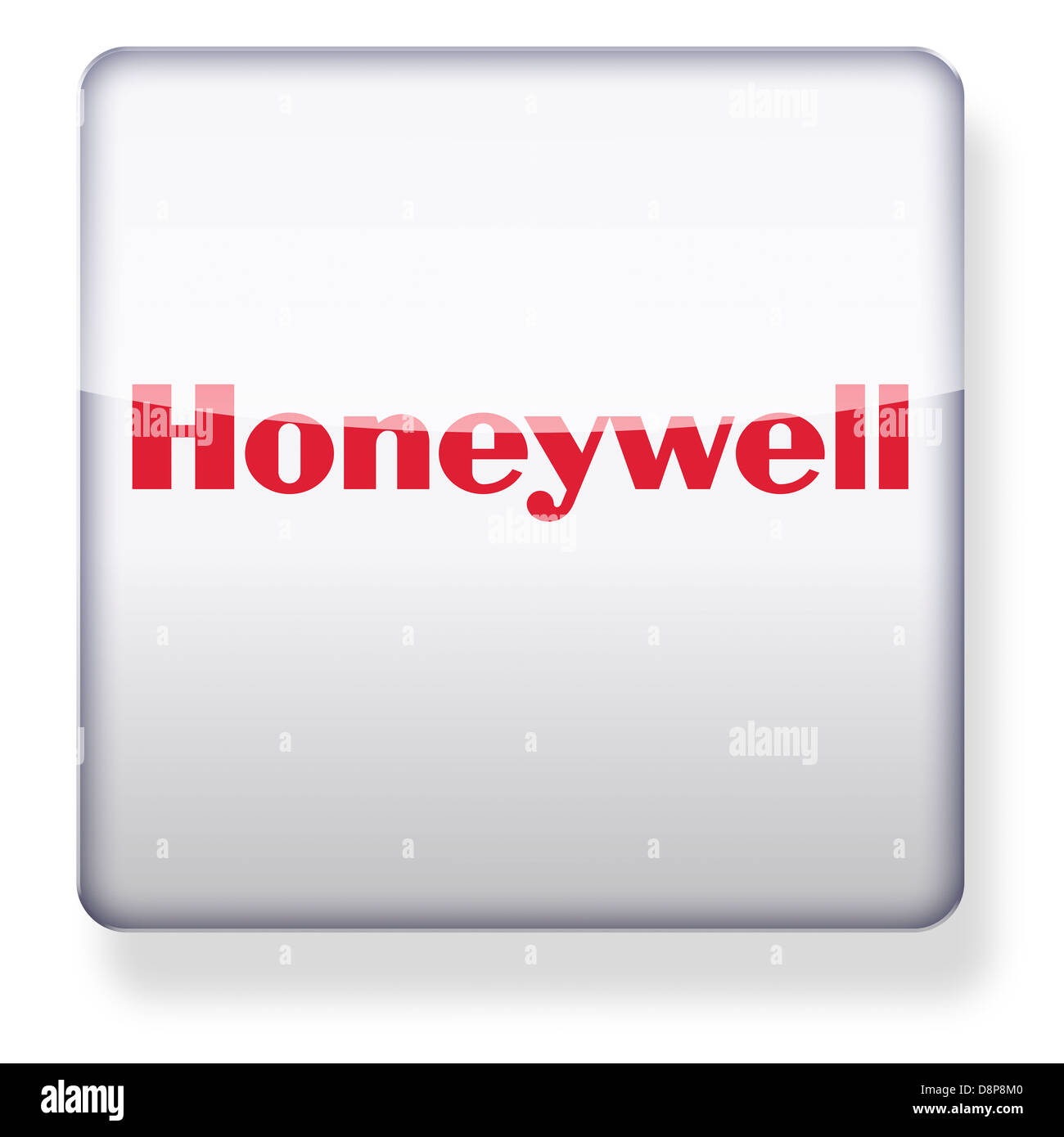 Honeywell logo as an app icon  Clipping path included Stock