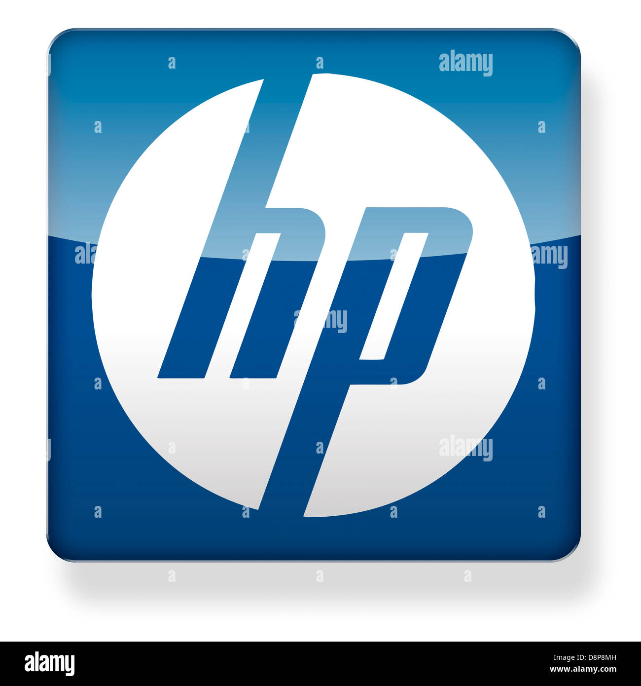 Hewlett Packard Logo As An App Icon Clipping Path Included Stock