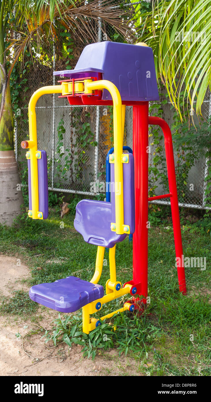 The Exercise Machine in Public Park. - Stock Image