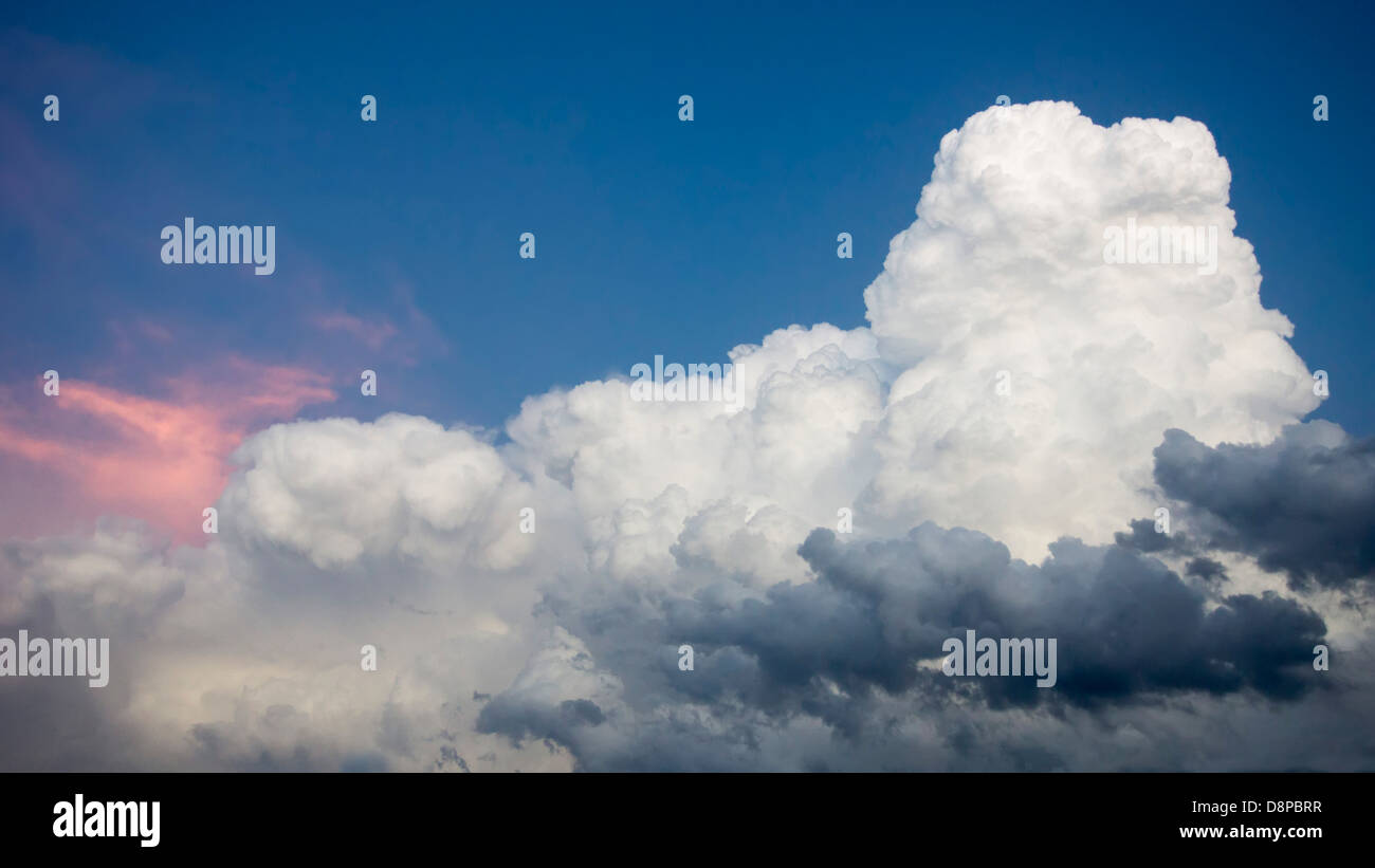 Cumuloonimbus in clouds formation over West Texas, near Marathon, in the north tip of the Chihuahuan Desert. - Stock Image