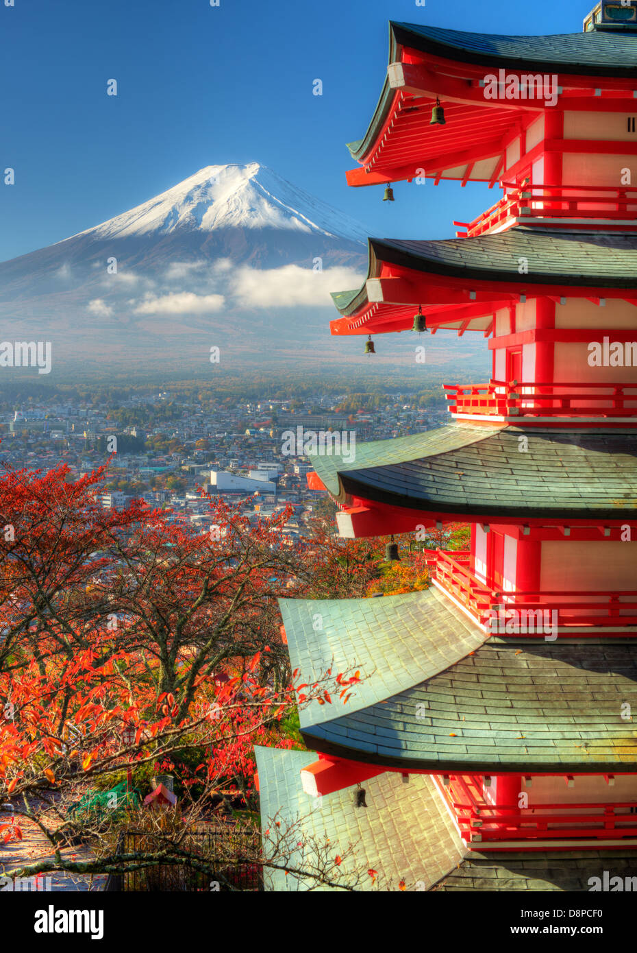 Pagoda and Mt. Fuji - Stock Image