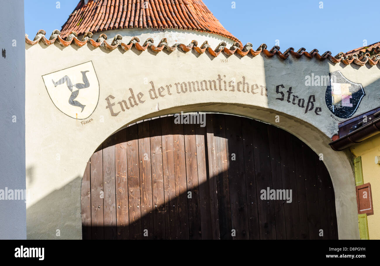 End of the Romantic Road. Fussen, Germany. - Stock Image