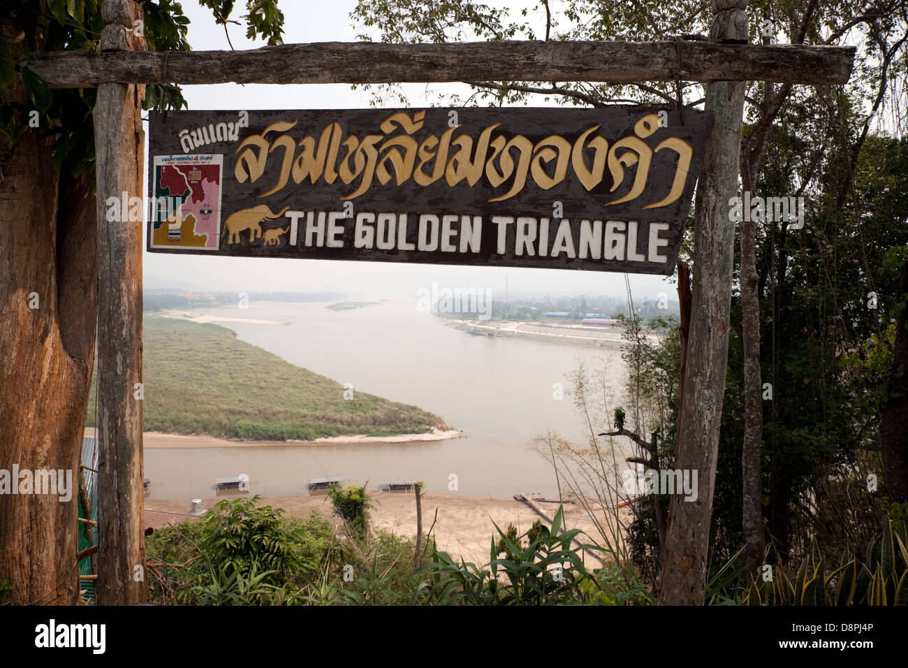 The Golden Triangle where Thailand, Burma/Myanmar and Laos meet