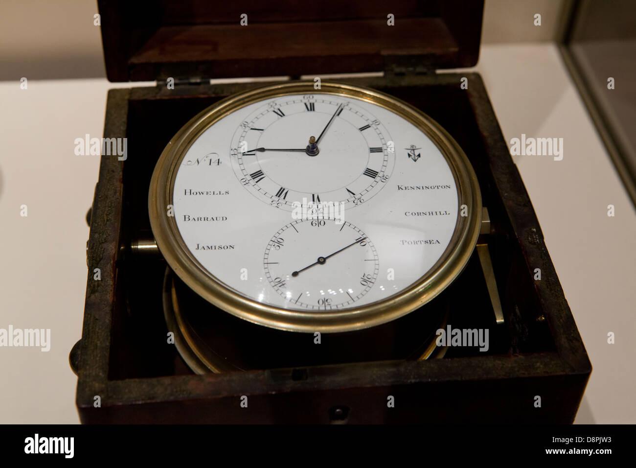 Thomas Mudge marine Chronometer, ca 1802 - Stock Image