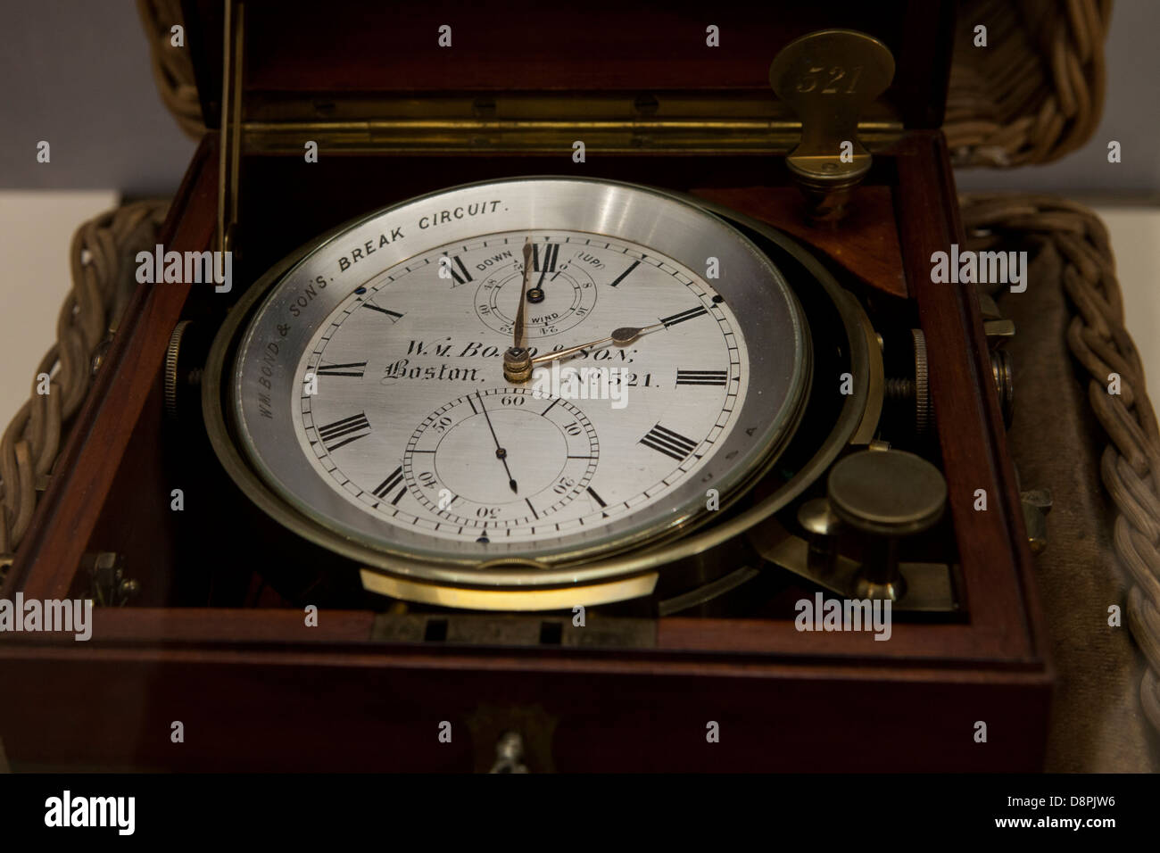 Marine Chronometer by William Bond & Son, ca 1870 - Stock Image