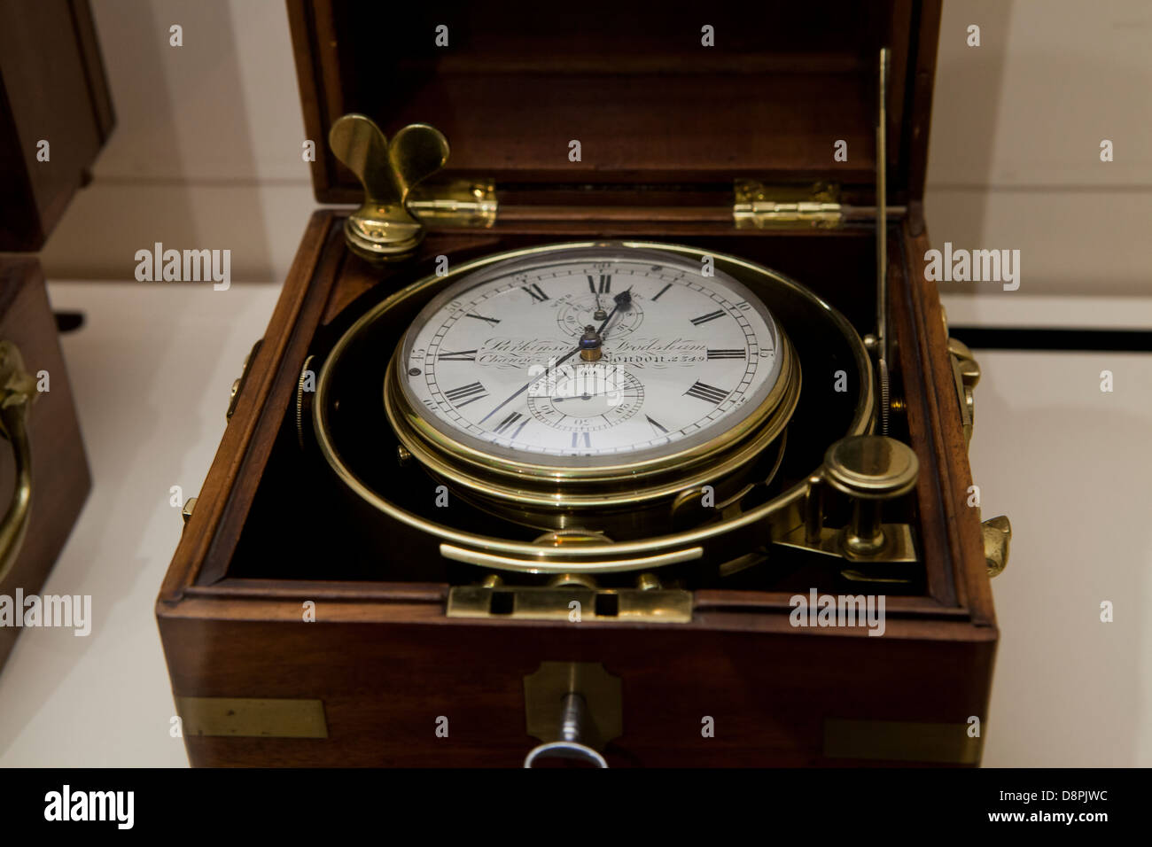 Antique marine Chronometer by Parkinson & Frodsham, ca 1840 - Stock Image
