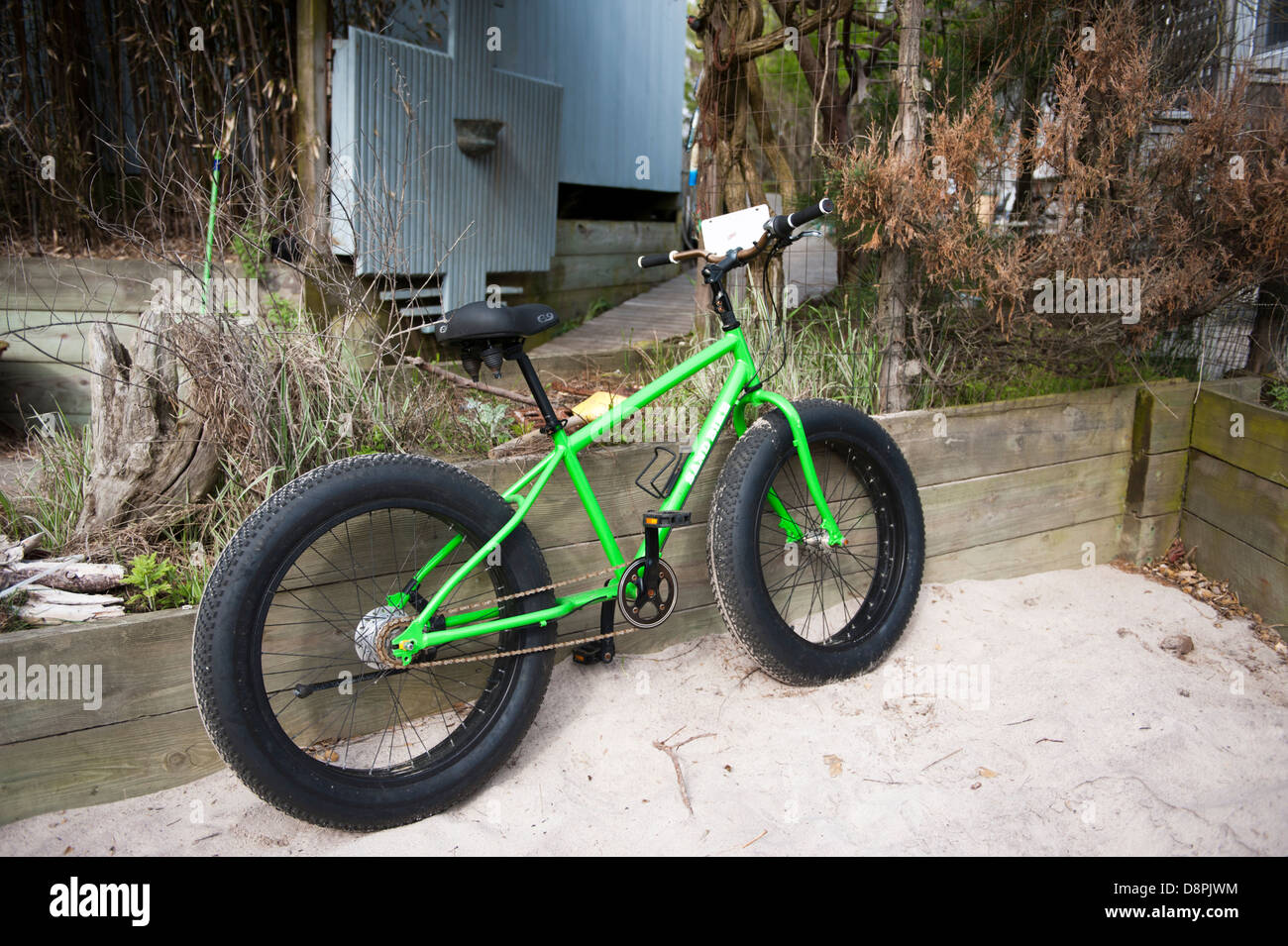 A Fat Tire Sand Bike On Fire Island New York Stock Photo 57046128