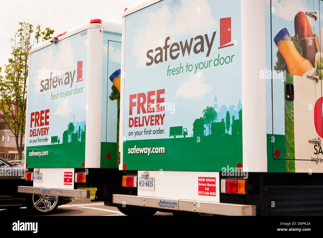 Safeway home delivery trucks Stock Photo 57046258 Alamy