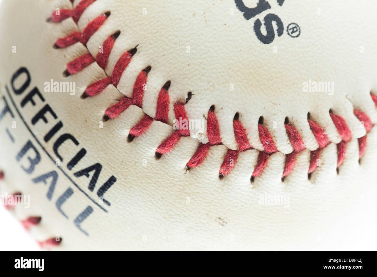 Baseball seam - Stock Image