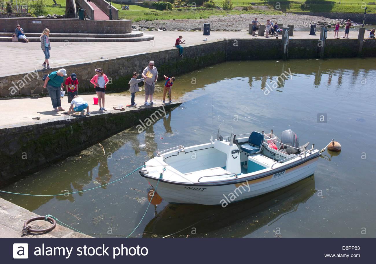 Aberaeron Harbour, Ceredigion, Wales, UK Stock Photo