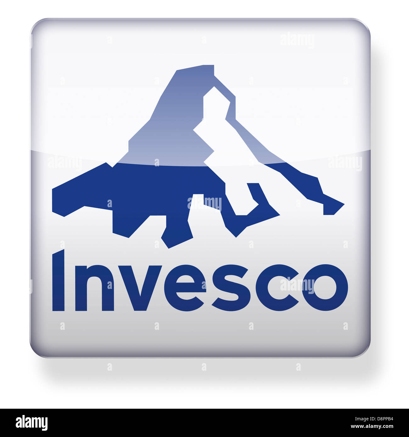 Invesco logo as an app icon. Clipping path included. - Stock Image