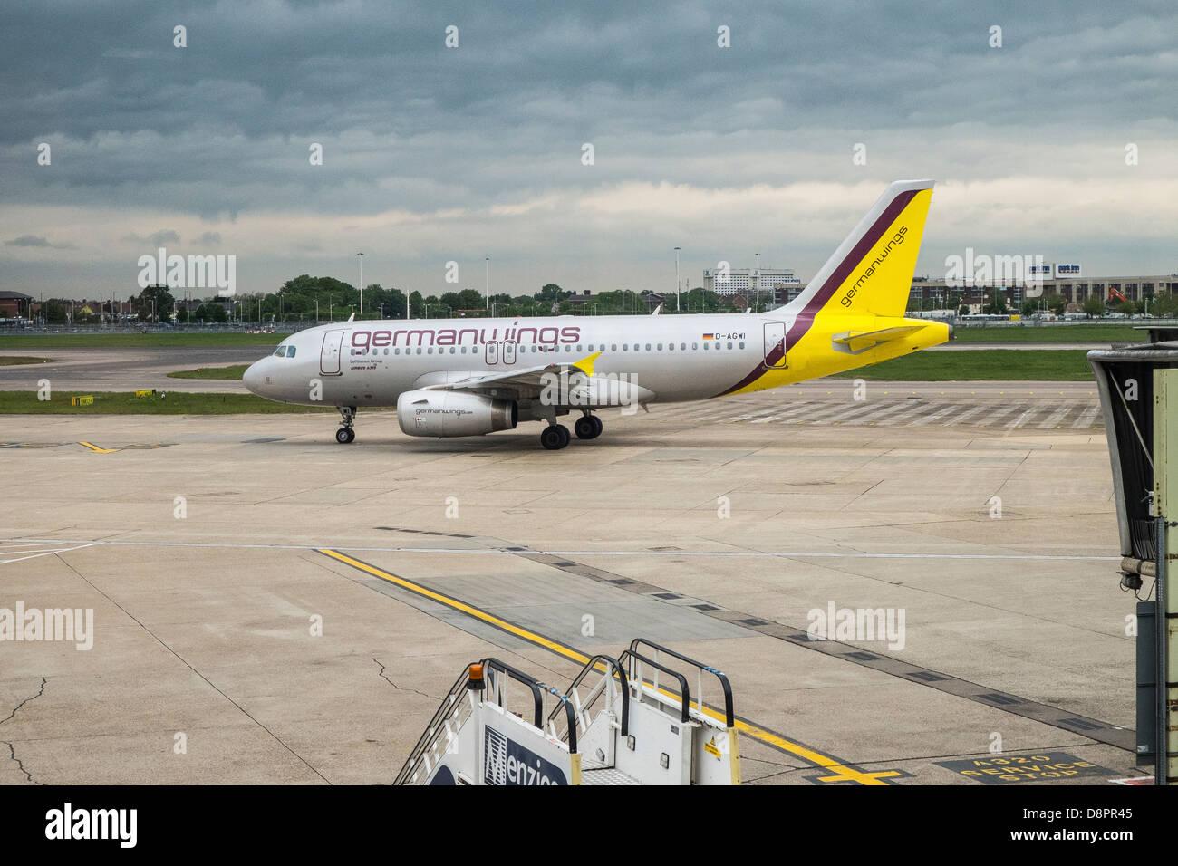 germanwings airplane on runway - Stock Image