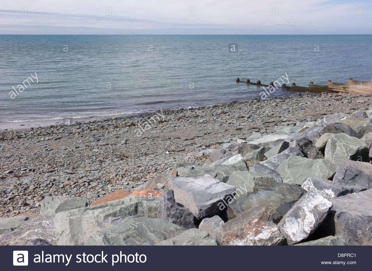 Aberaeron beach, Ceredigion, Wales, UK Stock Photo
