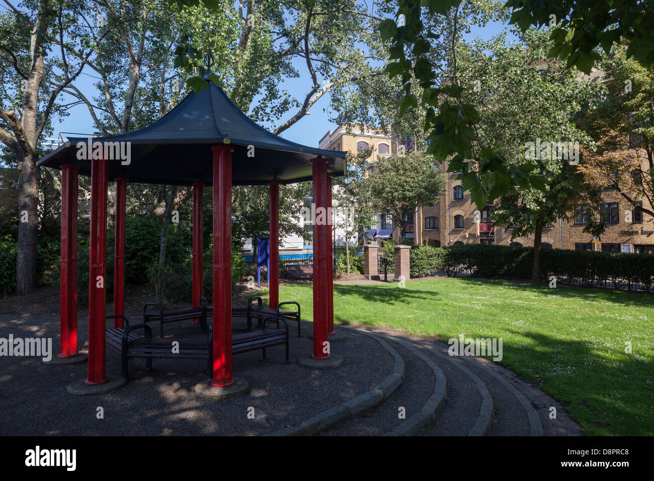 Bandstand, New Stairs, Wapping, London - Stock Image