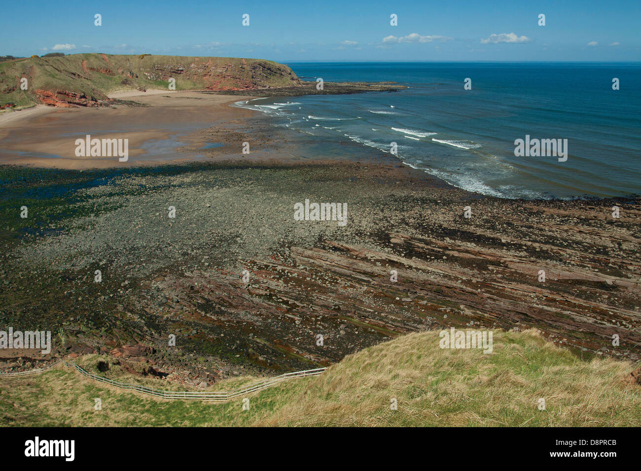 Pease Bay, Scottish Borders - Stock Image