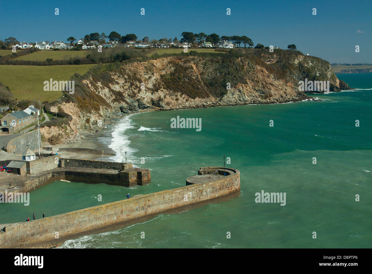 Charlestown Harbour, Charlestown, Conrwall - Stock Image
