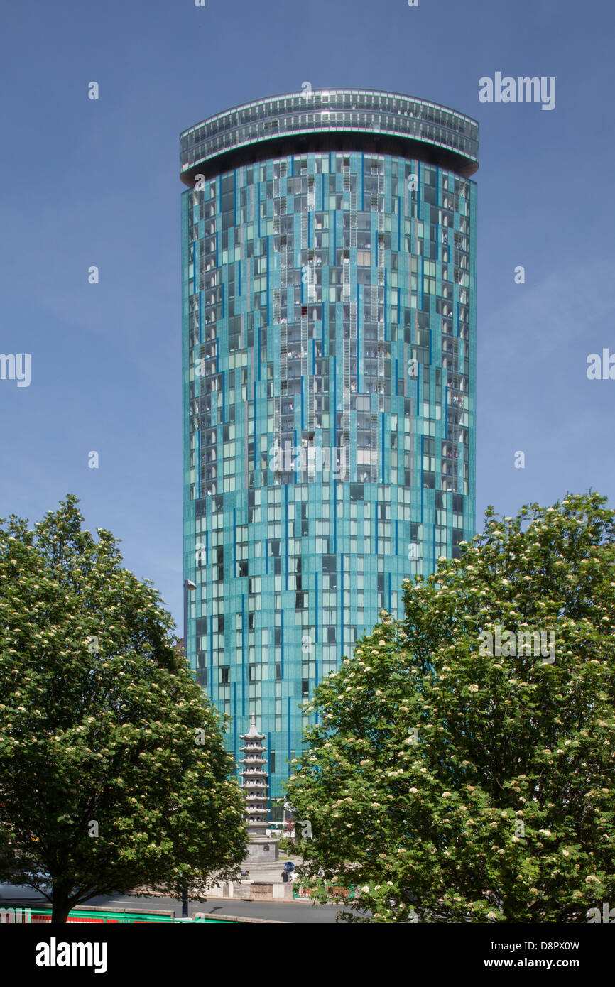 A Photograph of the Raddison Blu Hotel, 12 Holloway Circus, Queensway, Birmingham, B1 1BT, UK, taken in June 2013 - Stock Image
