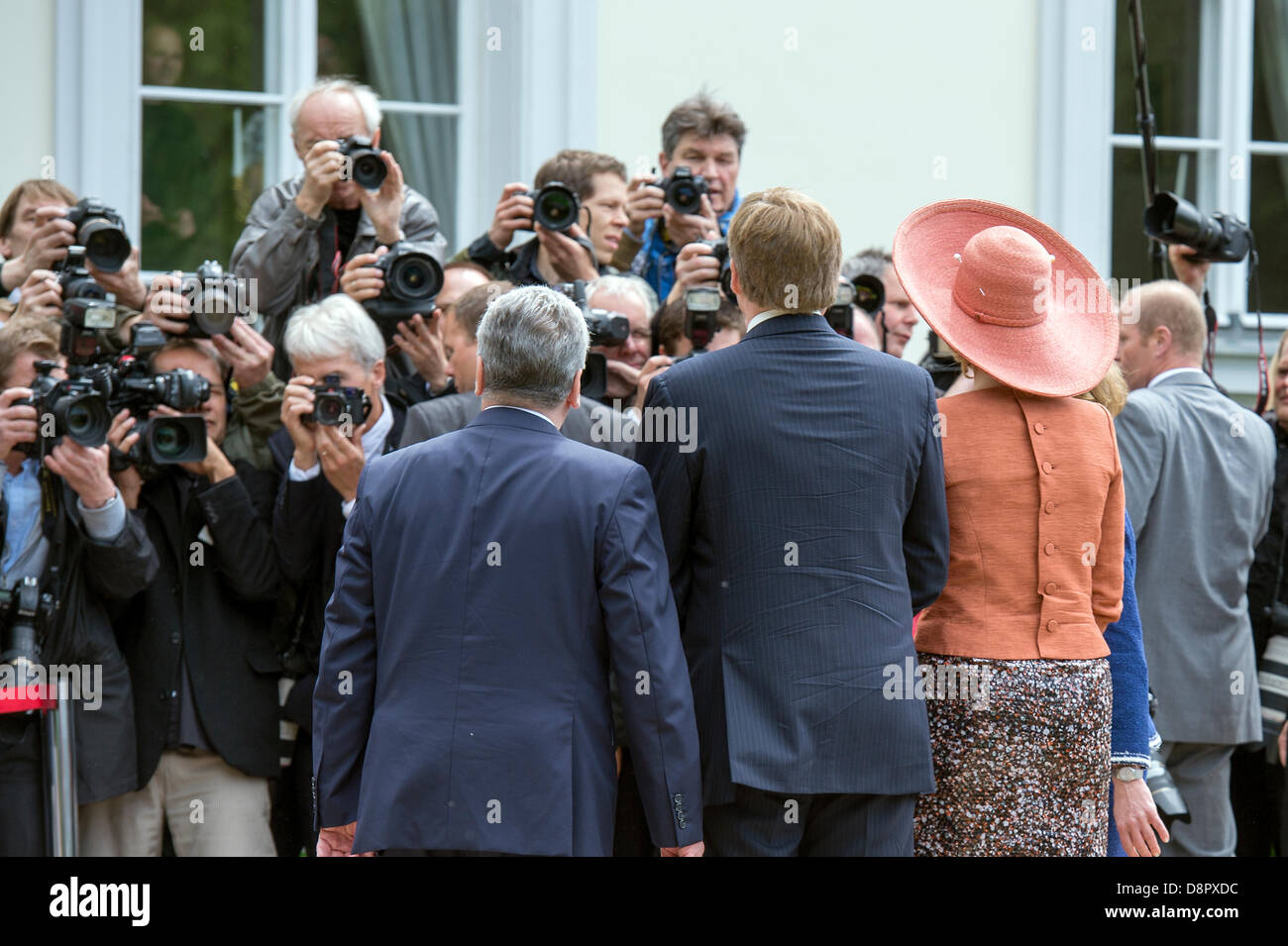 Berlin, Germany. June 3rd 2013. Welcome Their Majesties King Willem-Alexander and Queen Maxima of the Netherlands Stock Photo