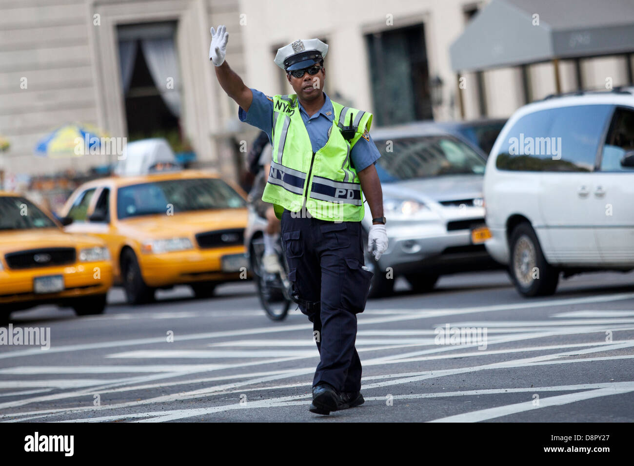 Traffic cop in New York - Stock Image