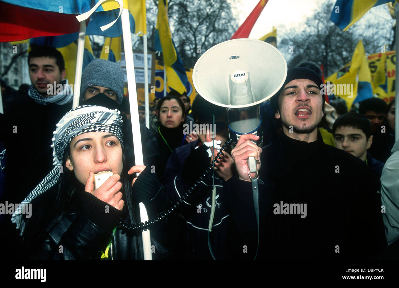 Stop the War in Iraq demo, London, UK. 15 February 2003. - Stock Image