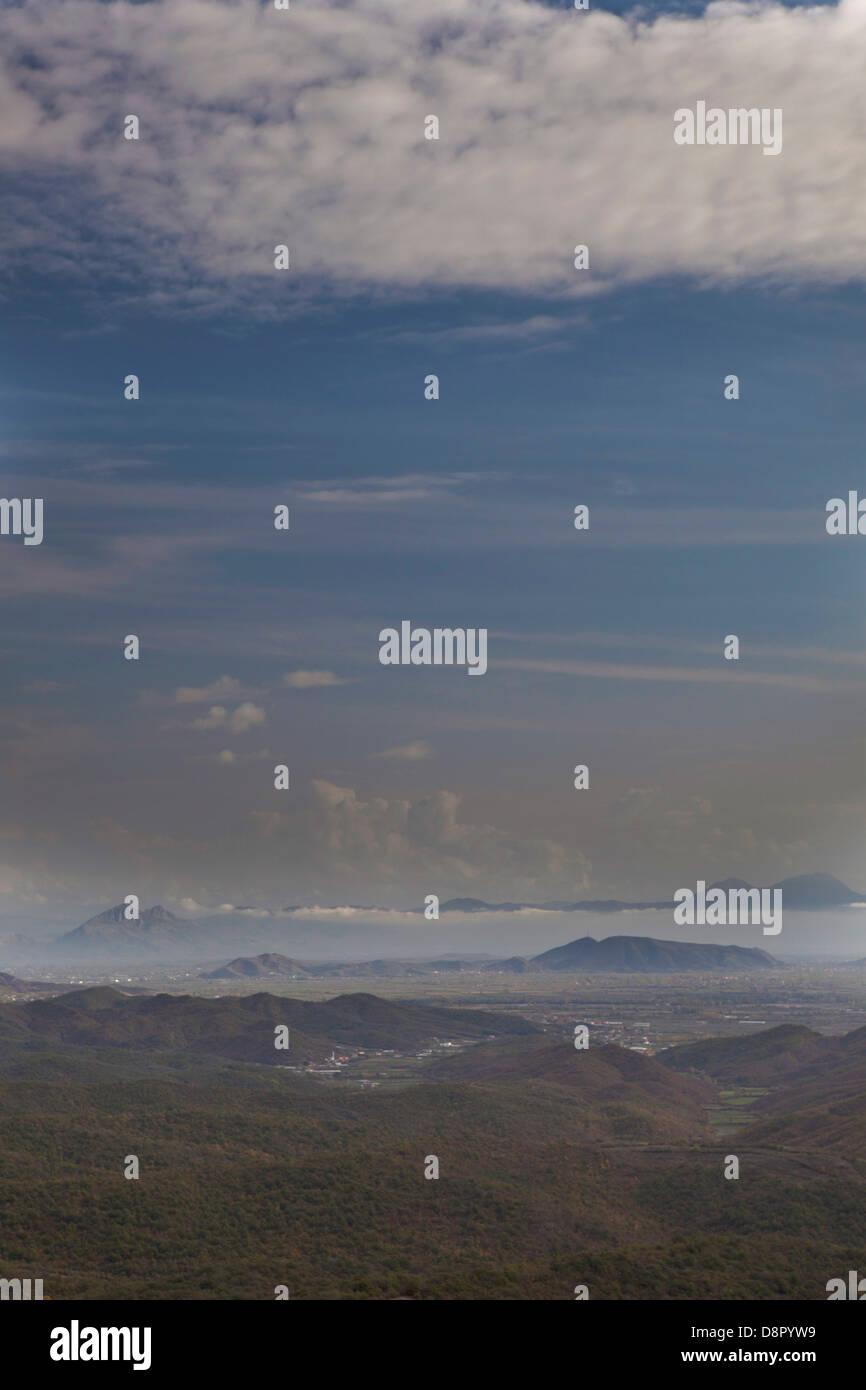 wasteland landscape, Shkodra, Montenegro - Stock Image
