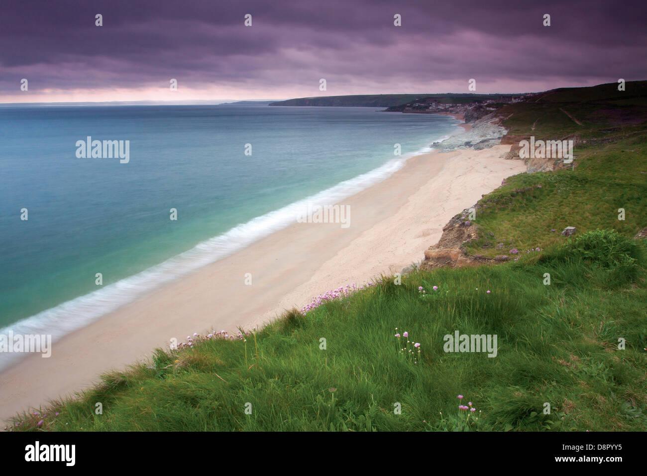 Porthleven Sands near Porthleven, Cornwall - Stock Image