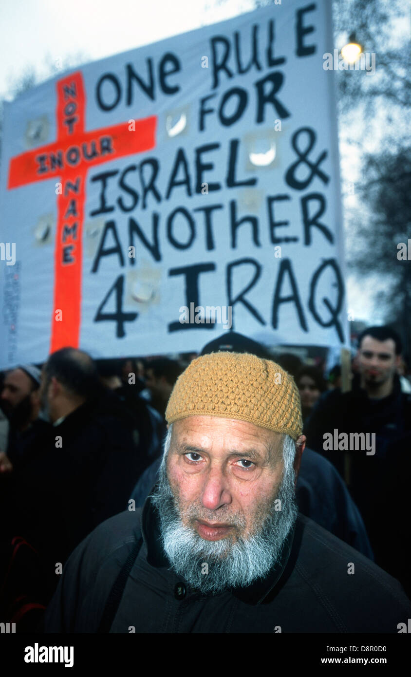 Stop the War in Iraq demo, London, UK. 2003. - Stock Image