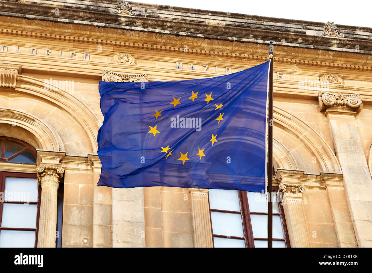 Flag of the european union, Siracusa, Sicily, Italy - Stock Image