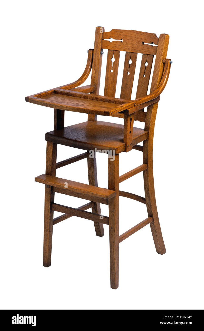 Baby Or Toddler Wooden High Chair Stock Photo 57055739 Alamy