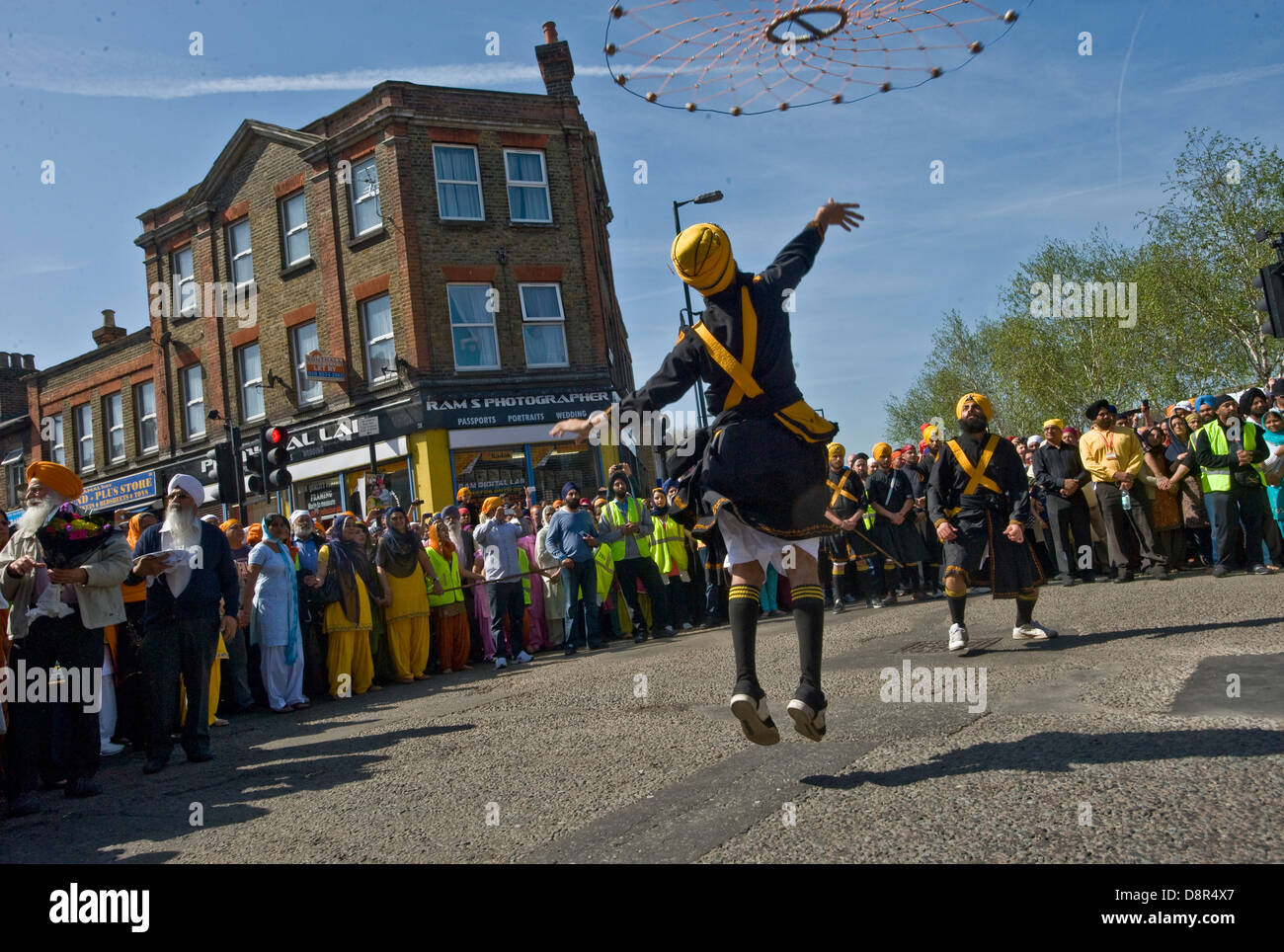 The annual Southall Vaisakhi procession [nagar kirtan] Sikh New Year and Harvest Festival 2011 - Stock Image