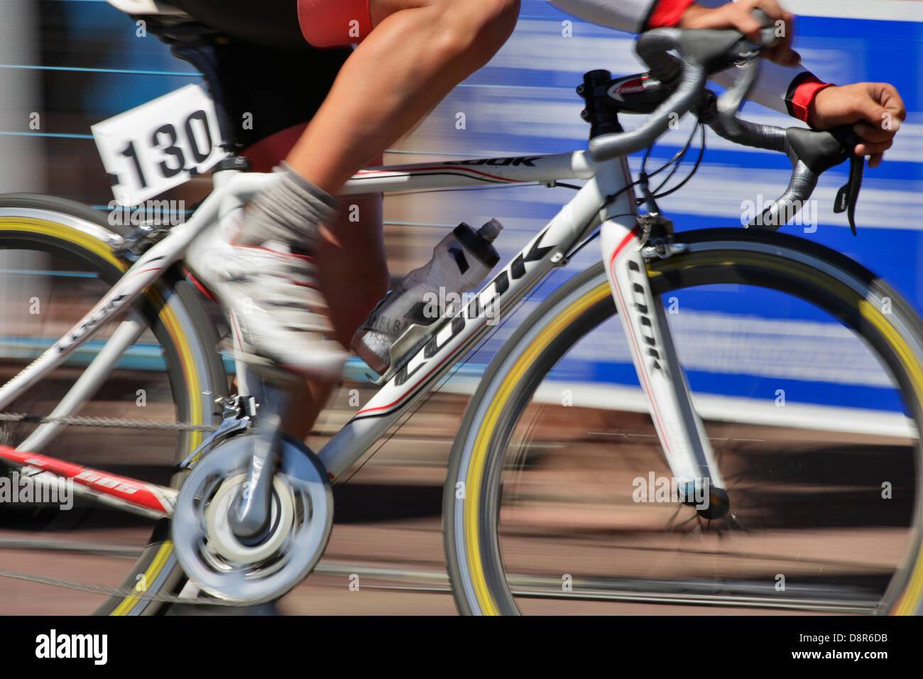 2013 Robert Cameron Law Bastion Square Gran Prix pro cycling men's criterium -Victoria, British Columbia, Canada. - Stock Image