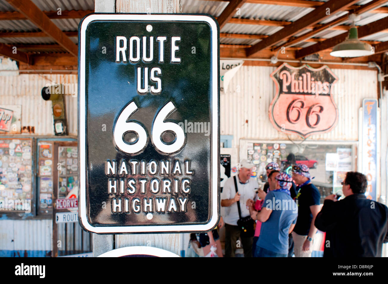 Hackberry General Store, or Route 66 in Arizona, USA. Stock Photo