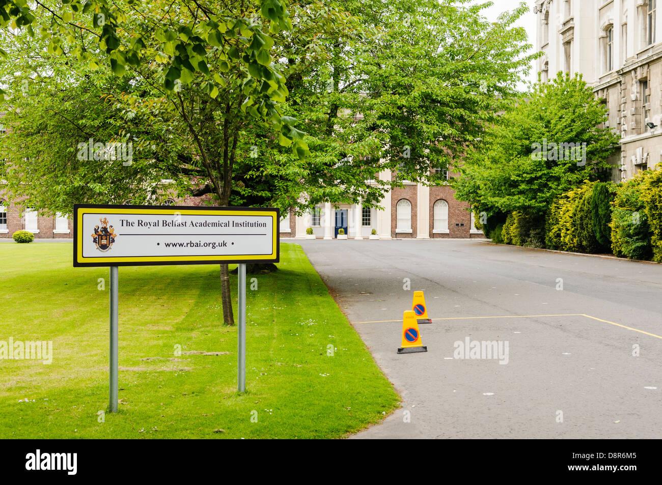 Royal Belfast Academical Institution (Inst), a boy's Grammar School in Belfast. - Stock Image