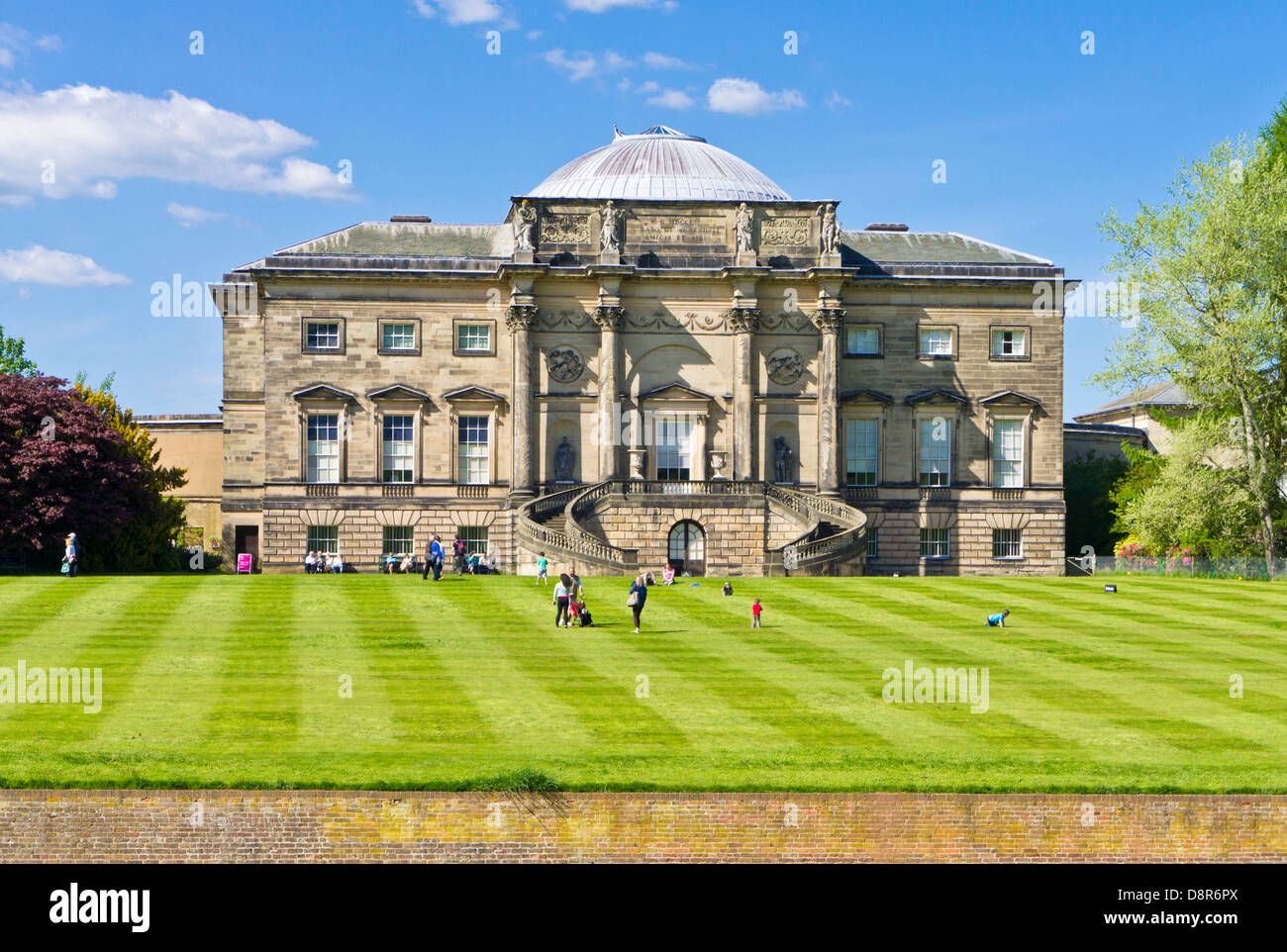 South Front Kedleston Hall and green lawns Derbyshire England UK Europe EU - Stock Image