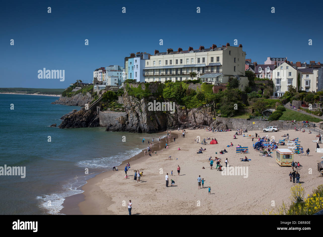 South Beach, Tenby, Pembrokeshire, Wales - Stock Image