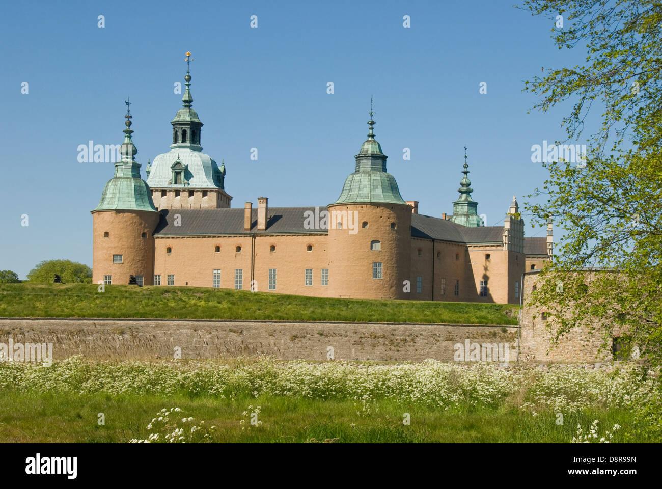 Kalmar Slot, Kalmar, Sweden - Stock Image