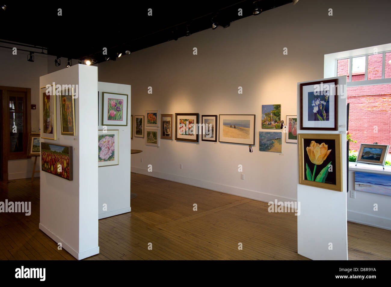 Gallery in the holland area arts council building in downtown
