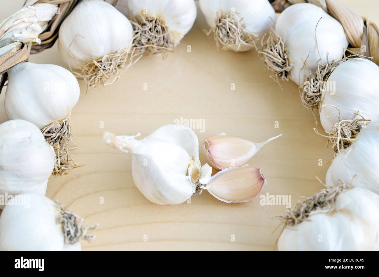 Organic garlic - Stock Image