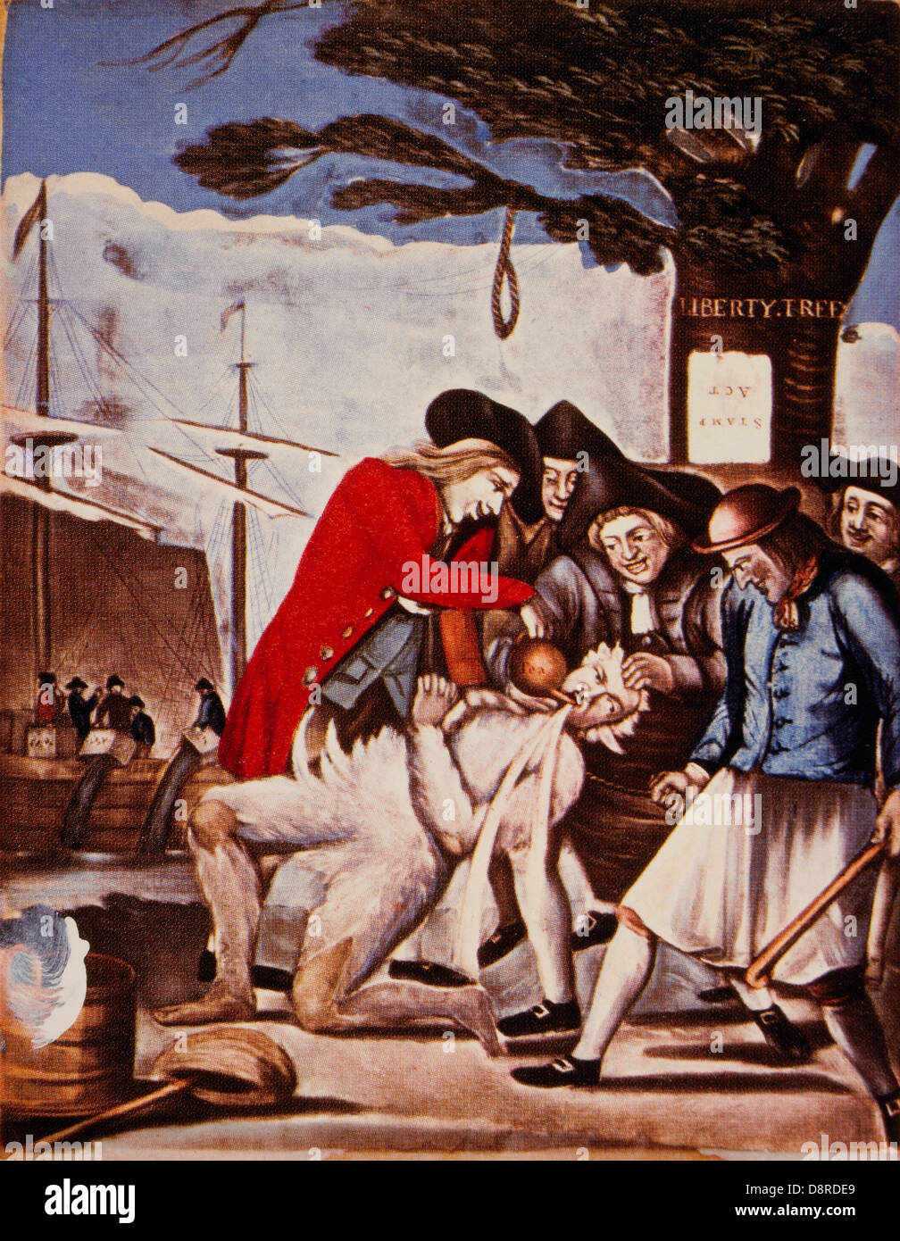 The Bostonians Paying the Excise-man, or Tarring and Feathering, 1774