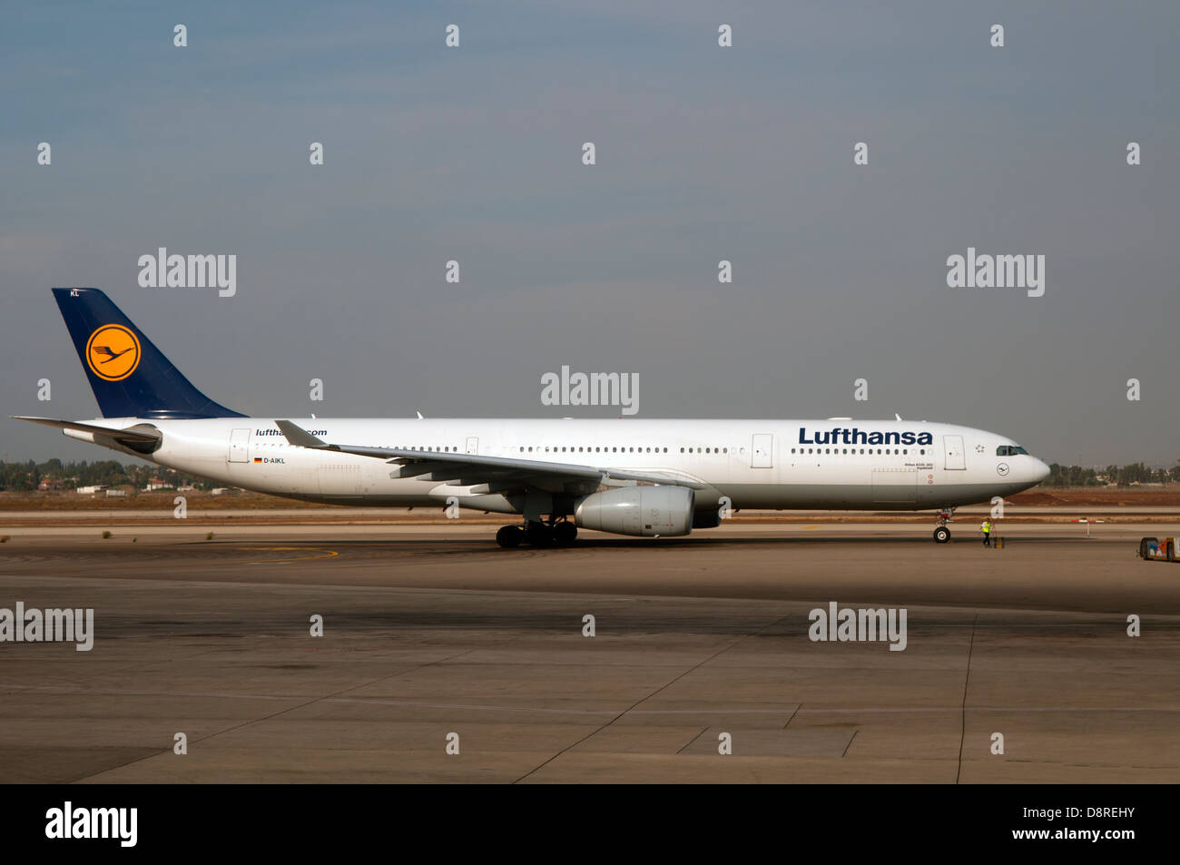 Lufthansa aircraft - Stock Image