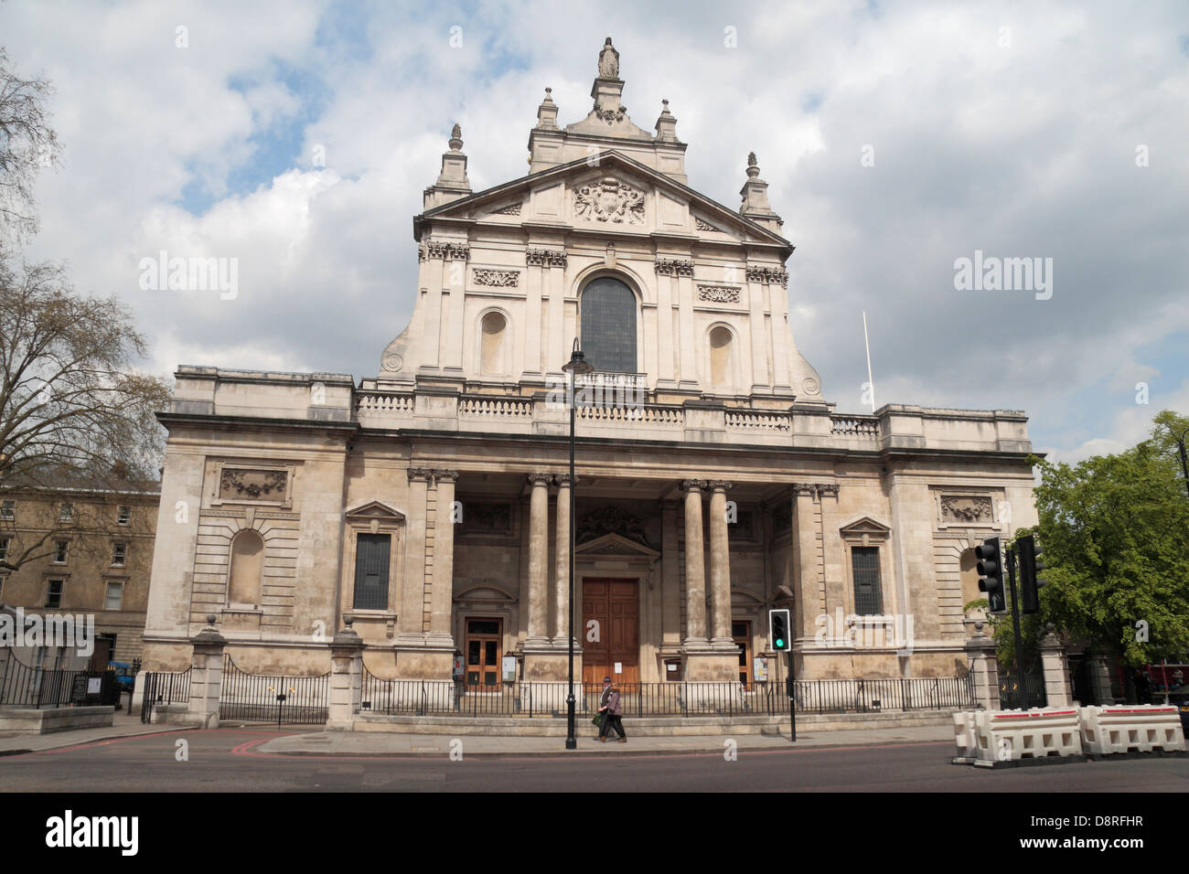 The Roman Catholic Church of the Immaculate Heart of Mary, popularly known as Brompton Oratory, Brompton Rd, London - Stock Image