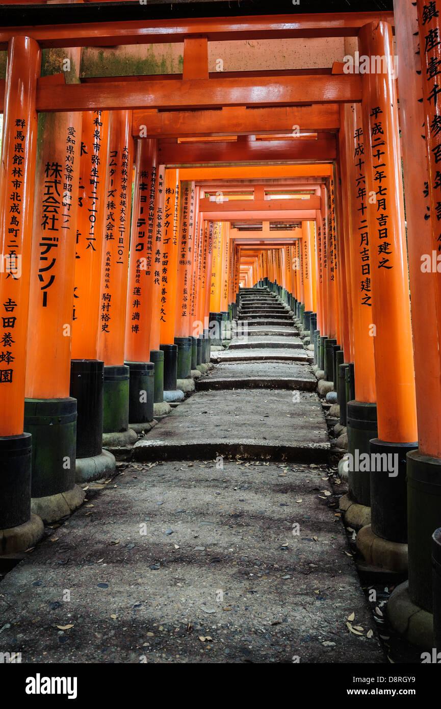 Details of the Fushimi-Inari-Taisha shrine, Kyoto, Japan, Asia - Stock Image