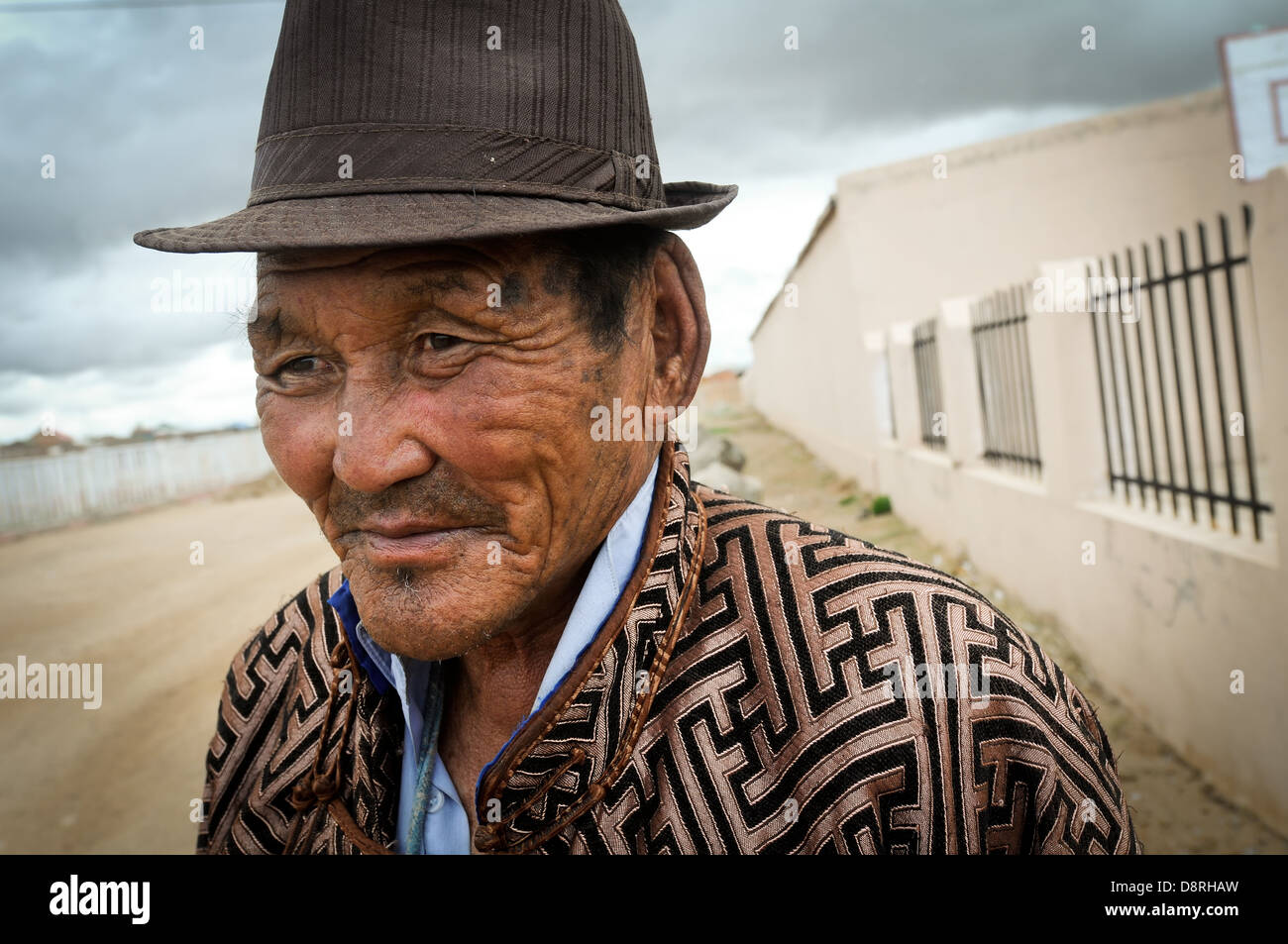 Life in small town Mongolia. - Stock Image